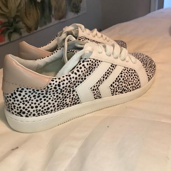 Dolce vita white leopard sneakers